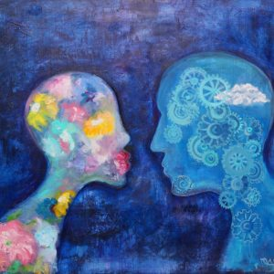 the Harmony Of Opposites Maria Tinkoff Modern Art Painting